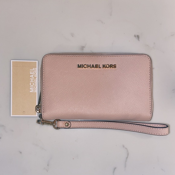 MICHAEL KORS Pink Travel Wallet